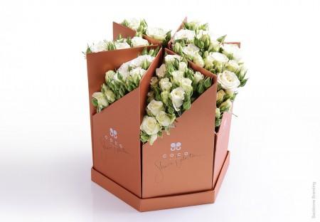 Коробка для цветов из слимкартона