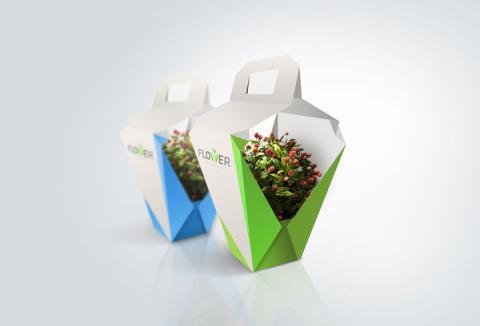Упаковка для цветов из картона