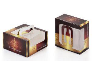 Коробка для торта с ручками