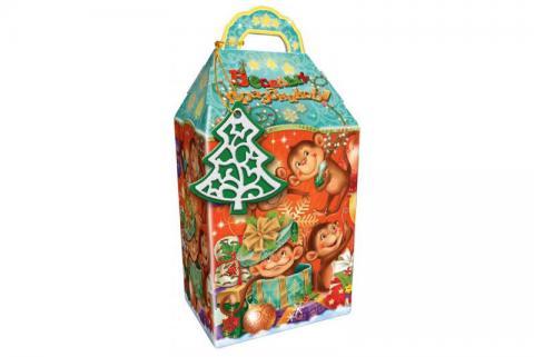 Коробка новогодняя - картон