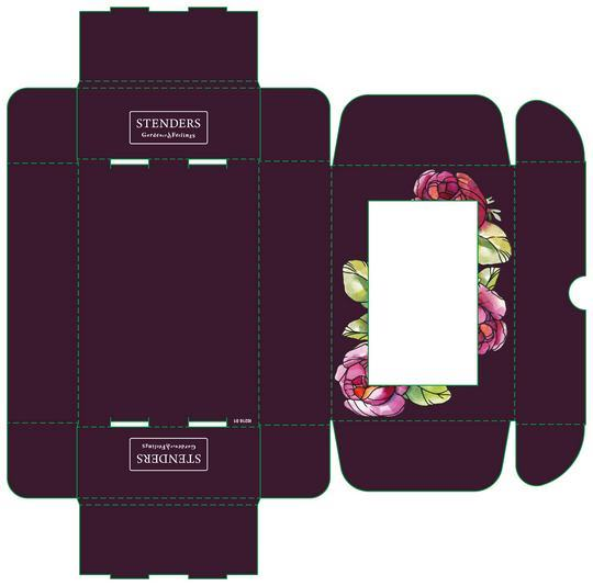 Коробка для парфюмерии - развертка