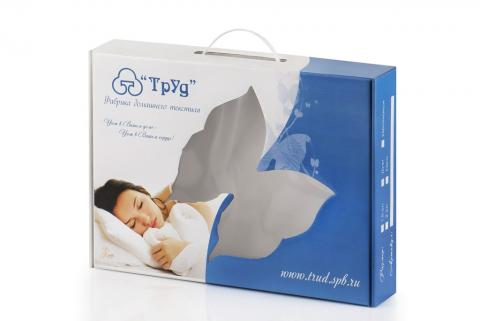 Упаковка для постельного белья (конструкция чемодан)